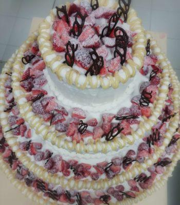 torta nuziale di frutta